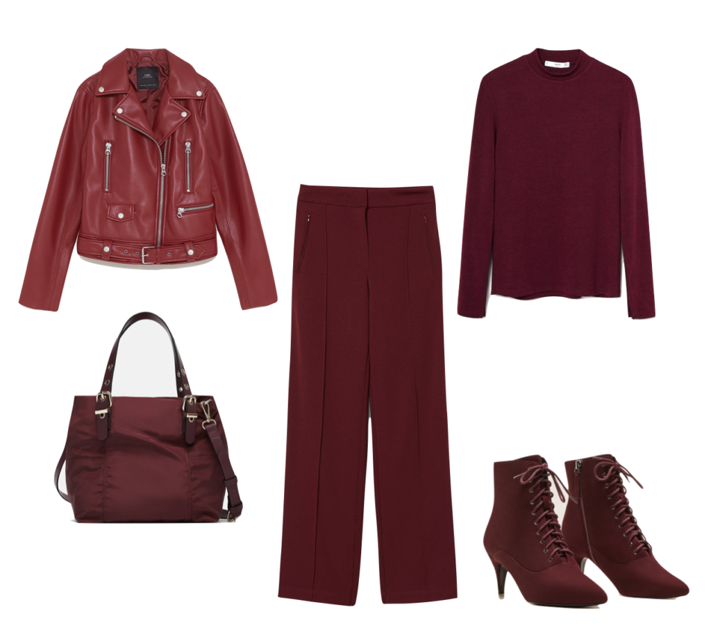 Outfit1 Pantone red pear
